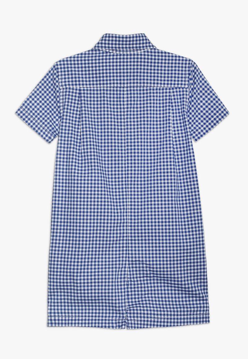 Polo Ralph Lauren - BEAR ONEPIECE SHORTALL BABY - Mono - blue multi