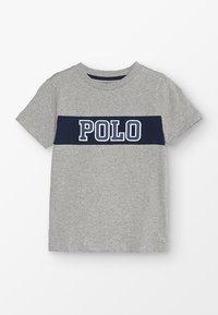 Polo Ralph Lauren - PIECED TEE - T-shirt z nadrukiem - andover heather - 0