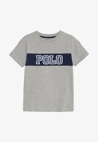 Polo Ralph Lauren - PIECED TEE - T-shirt z nadrukiem - andover heather - 2