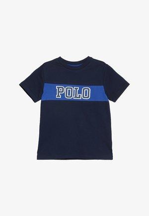 PIECED TEE - T-shirt med print - newport navy