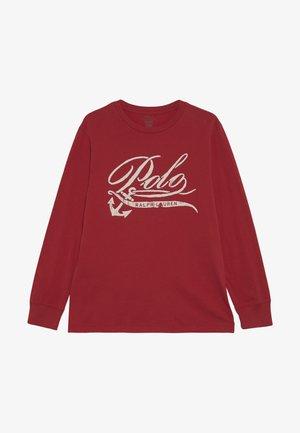 Langærmede T-shirts - sunrise red
