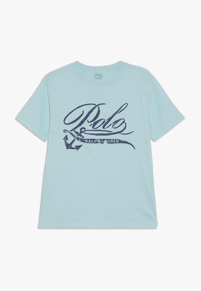T-shirt med print - island aqua