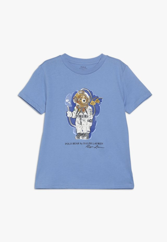 Print T-shirt - fall blue