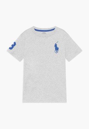 T-shirt med print - light smoke heather