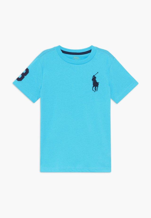 Camiseta estampada - liquid blue