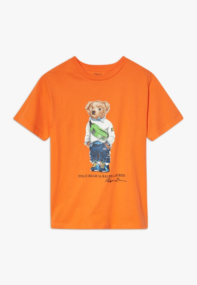 Print T-shirt - bright signal orange