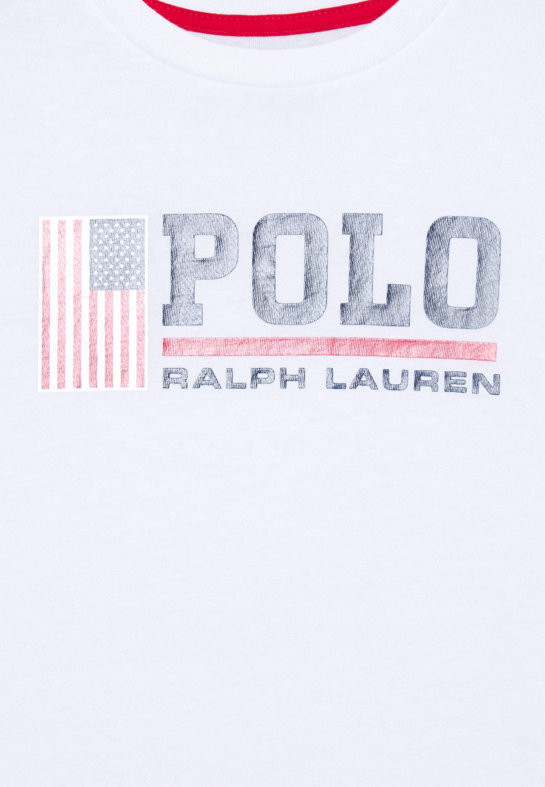 Polo Ralph Lauren T-shirt z nadrukiem - white - Ubranka dla dzieci