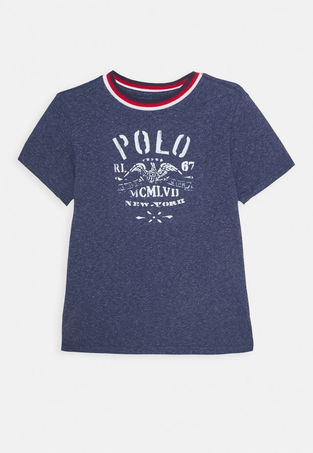 Camiseta estampada - observer blue heather