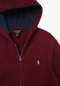 Polo Ralph Lauren - HOOD - Mikina na zip - classic wine - 3