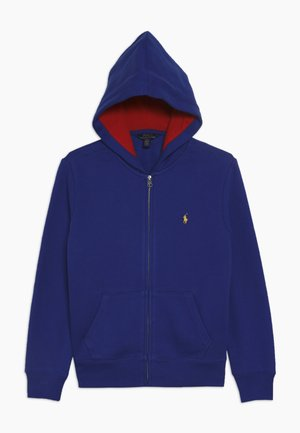 HOOD - veste en sweat zippée - rugby royal
