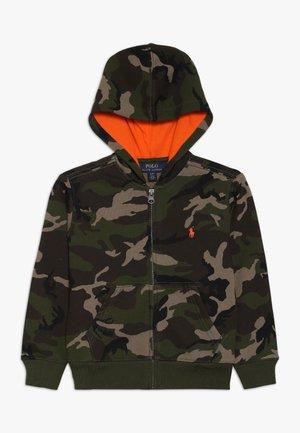 HOOD - Zip-up hoodie - mottled olive