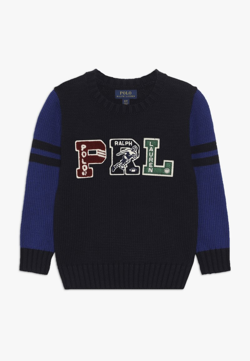Polo Ralph Lauren - VARSITY - Neule - navy/multicoloured