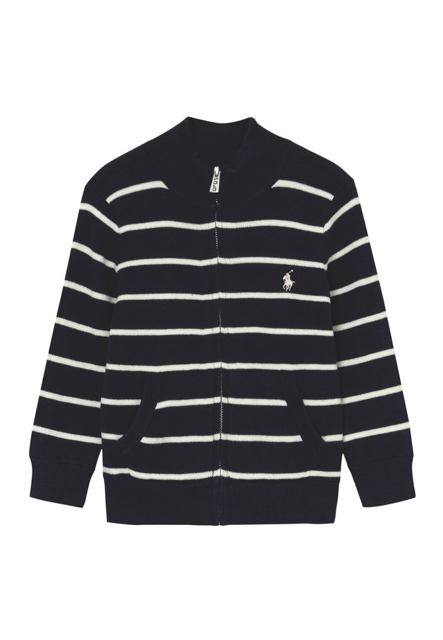 MOCK NECK SWEATER - Cardigan - navy