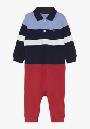 STRIPE ONE PIECE COVERALL - Jumpsuit - french navy multi