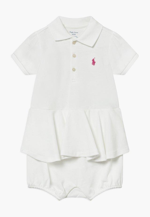 PEPLUM ONE PIECE SHORTALL - Tuta jumpsuit - white