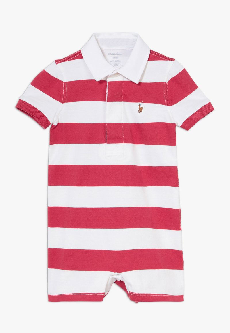 Polo Ralph Lauren - RUGBY ONE PIECE  - Tuta jumpsuit - sunrise red multi