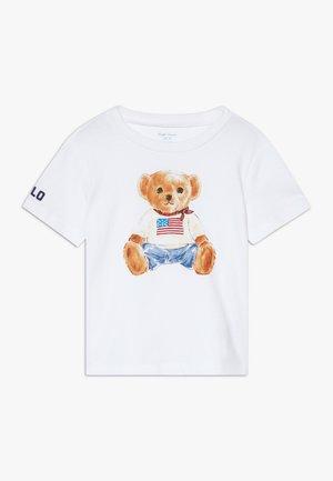 BEAR TEE - T-shirt print - white