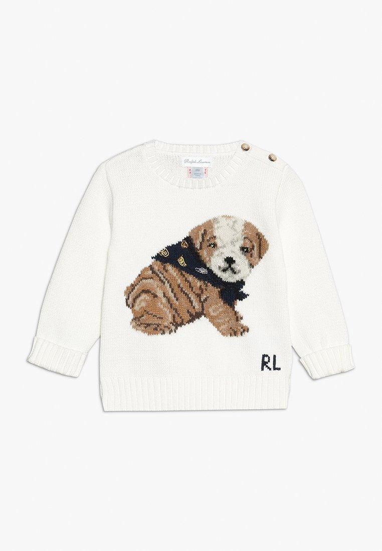 Polo Ralph Lauren - DOG INTARSIA - Jumper - trophy cream