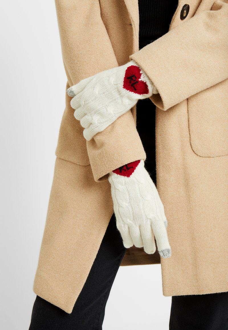 Polo Ralph Lauren - HEART GLOVE - Fingerhandschuh - cream