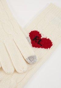 Polo Ralph Lauren - HEART GLOVE - Rękawiczki pięciopalcowe - cream - 4