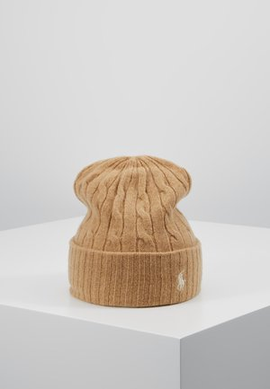 CABLE HAT - Bonnet - camel melange