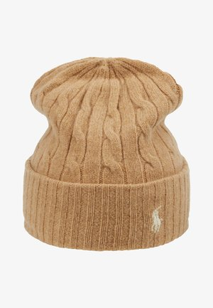 CABLE HAT - Berretto - camel melange
