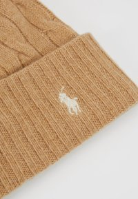 Polo Ralph Lauren - CABLE HAT - Lue - camel melange - 4