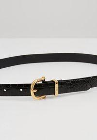 Polo Ralph Lauren - EMBOSSED - Pásek - black - 4