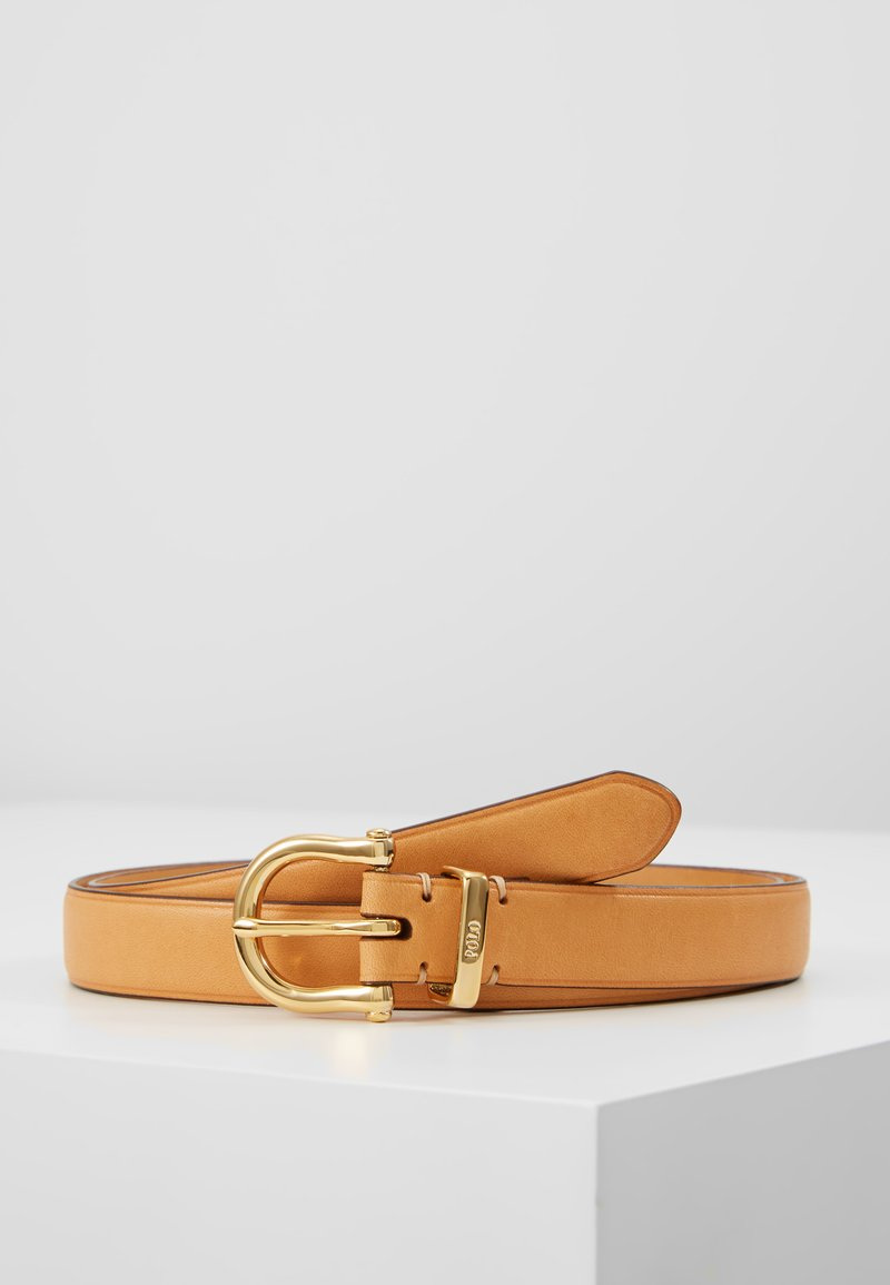 Polo Ralph Lauren - SMOOTH VACHETTA STIRRUP - Pásek - natural
