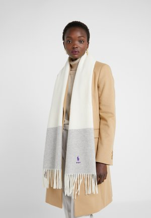 SCARF - Sjal - cream/grey