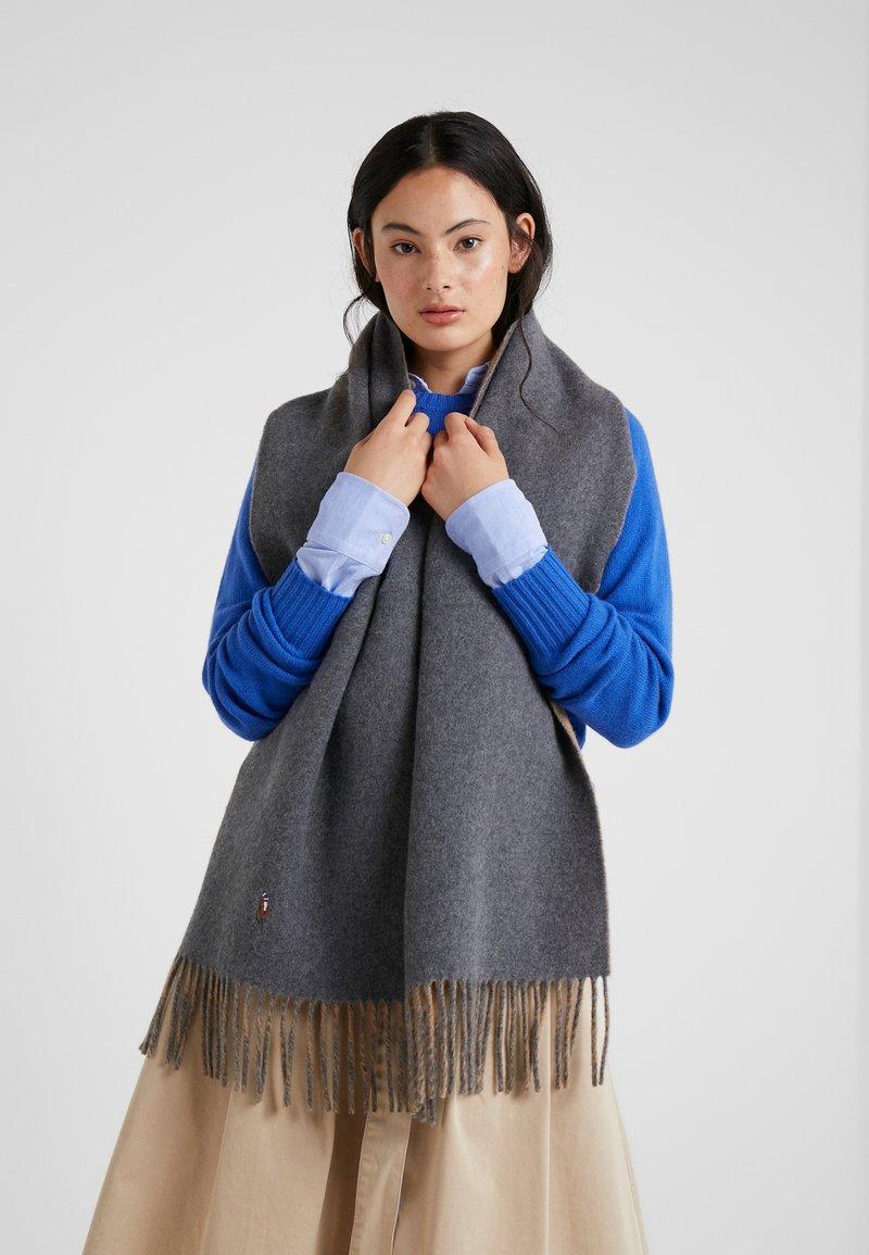 Polo Ralph Lauren - SIGN SCARF - Schal - grey/camel