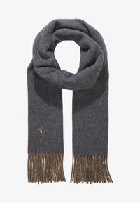 Polo Ralph Lauren - SIGN SCARF - Scarf - grey/camel - 1