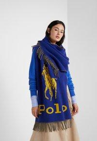 Polo Ralph Lauren - Scarf - royal/yellow - 0