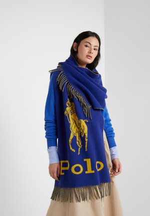 Sjaal - royal/yellow