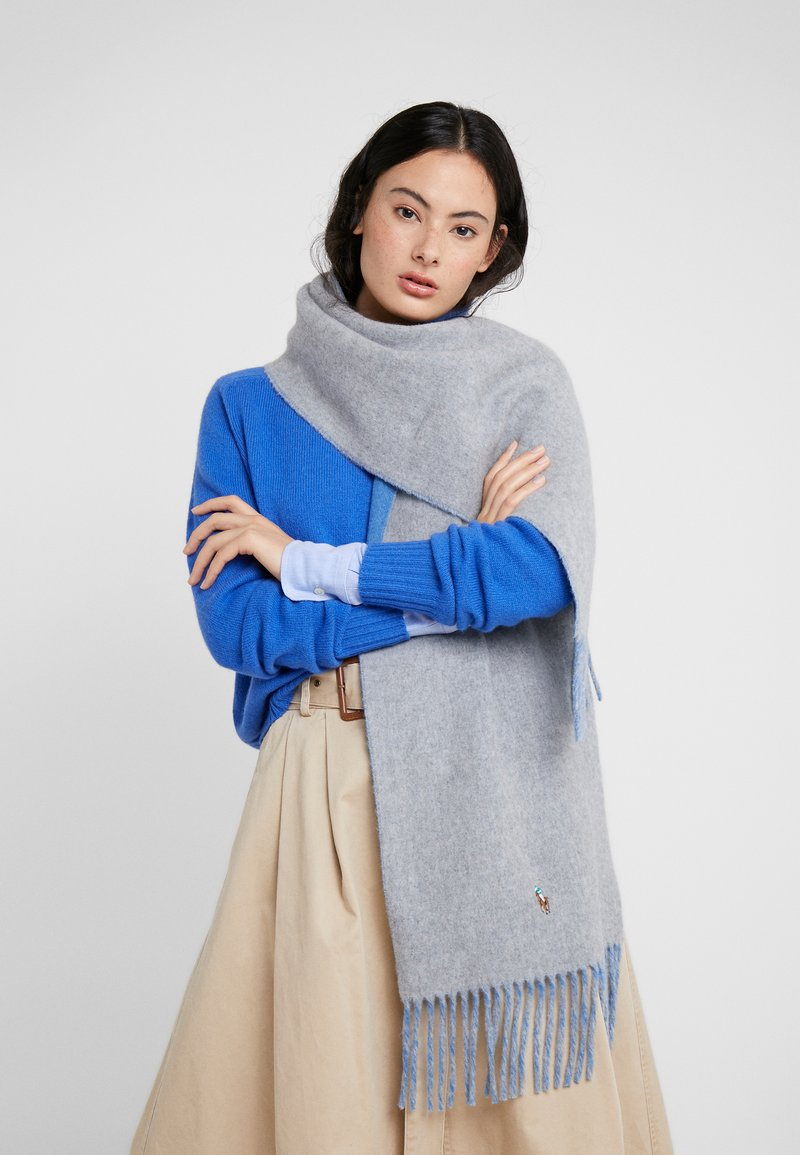 Polo Ralph Lauren - SIGN SCARF - Scarf - grey/blue