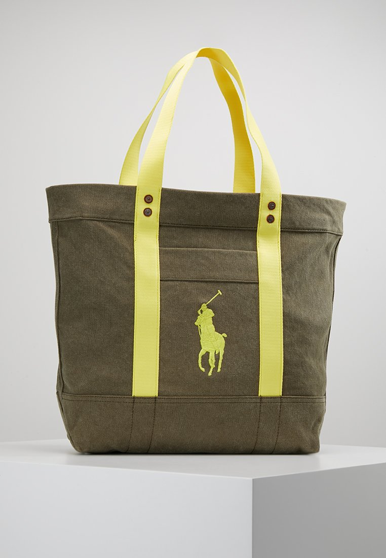 Polo Ralph Lauren - TOTE - Cabas - olive/yellow