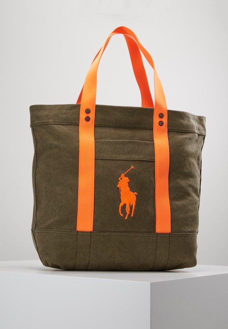 Polo Ralph Lauren - TOTE - Shopping Bag - olive/orange