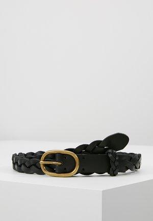 SMOOTH VACHETTA SKINNY BRAID - Flettet belte - black