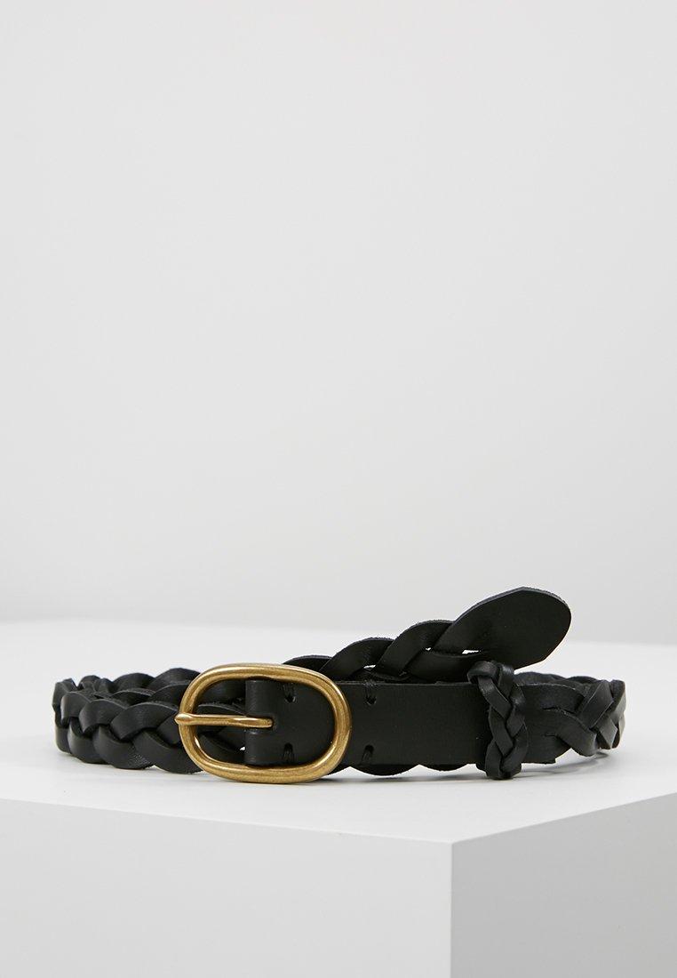 Polo Ralph Lauren - SMOOTH VACHETTA SKINNY BRAID - Palmikkovyö - black