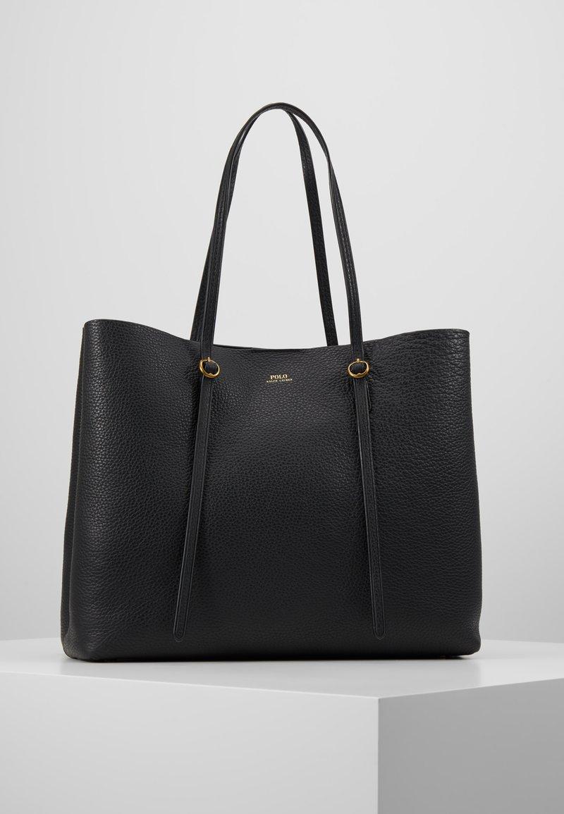 Polo Ralph Lauren - PEBBLED LENNOX TOTE - Shopping bag - black