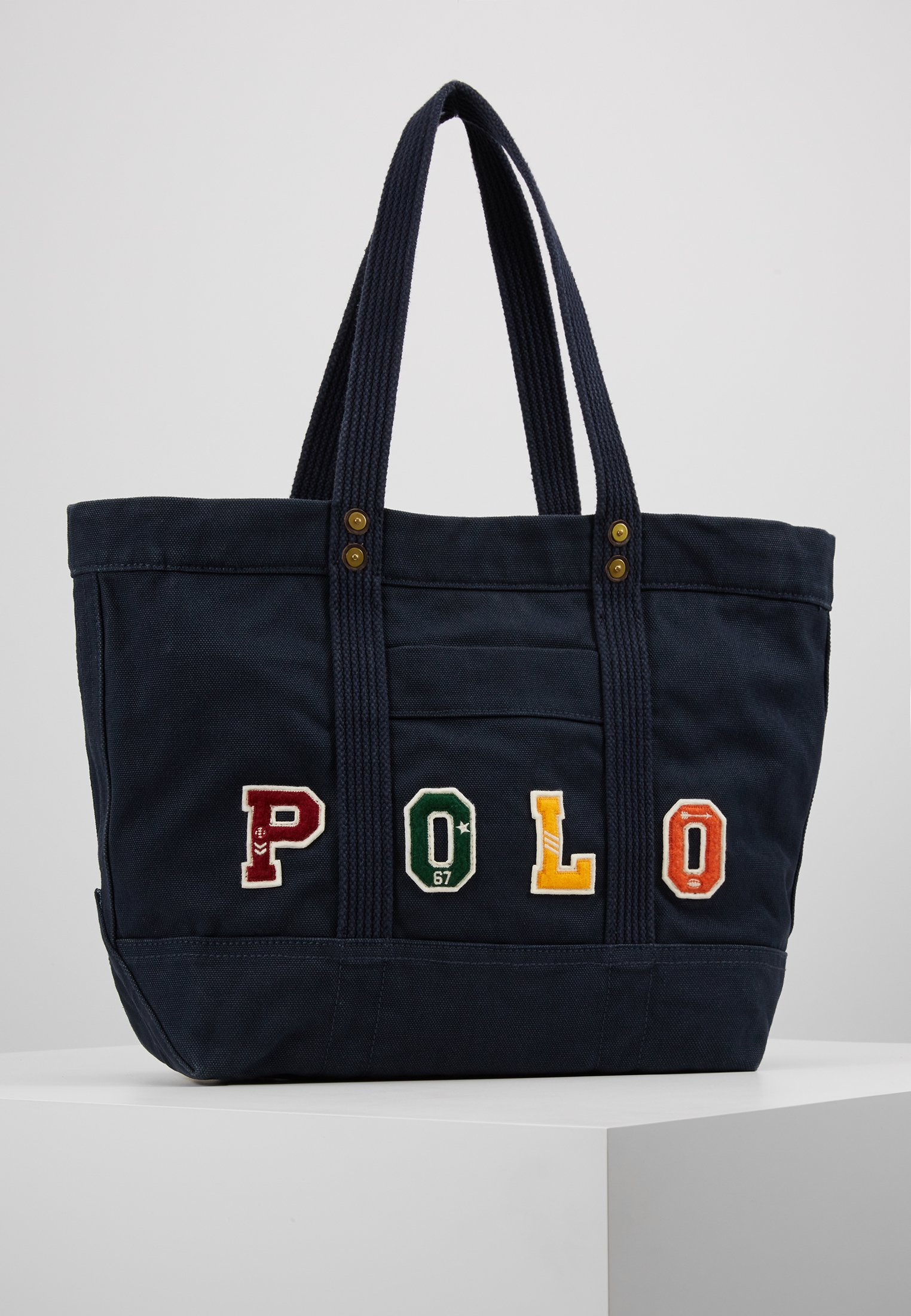 Bag Polo ToteShopping Navy Lauren Ralph nwO8XPk0