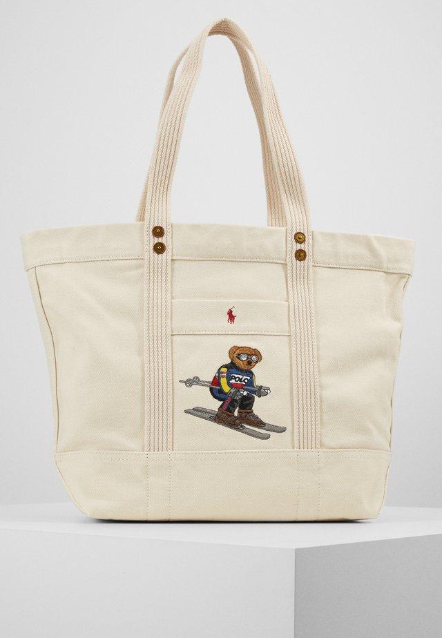 SKI BEAR TOTE - Shopping bag - white
