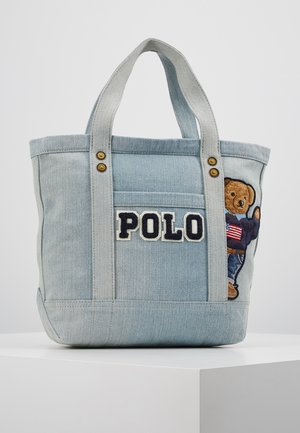 BEAR SMALL - Shopping Bag - denim