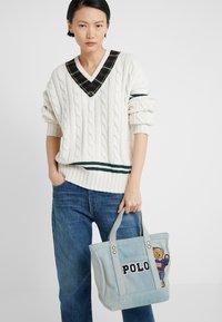 Polo Ralph Lauren - BEAR SMALL - Velká kabelka - denim - 1