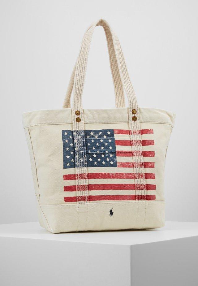 FLAG TOTE - Shopping bag - ecru