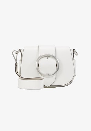 PATENT LEATHER-BELT SADDLE-CXB-MED - Across body bag - white