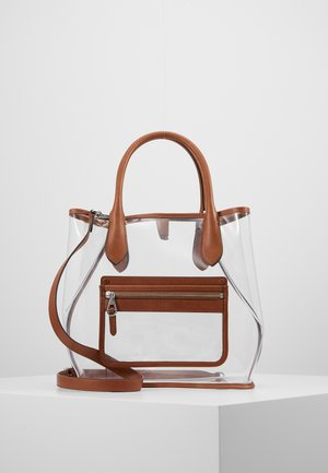 OPEN TOTE - Bolso shopping - clear/cuoio