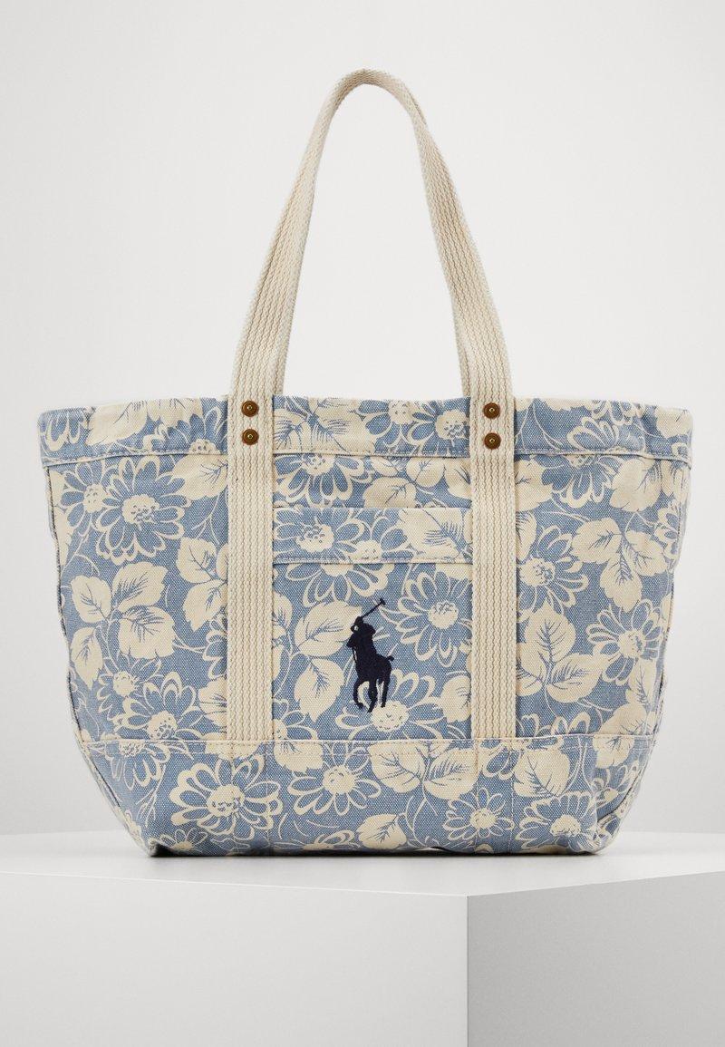 Polo Ralph Lauren - FLORAL PRINT TOTE - Shopping bag - blue/white