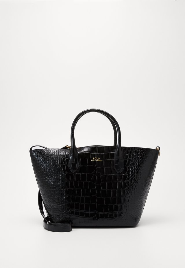 EMBOSSED OPEN TOTE - Shopping bags - black