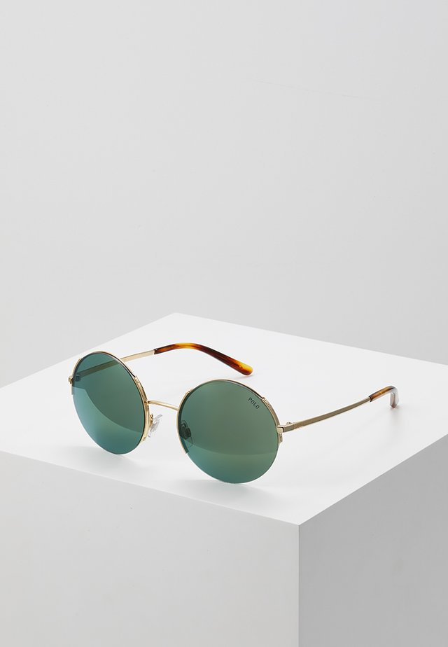 Sonnenbrille - shiny pale gold-coloured